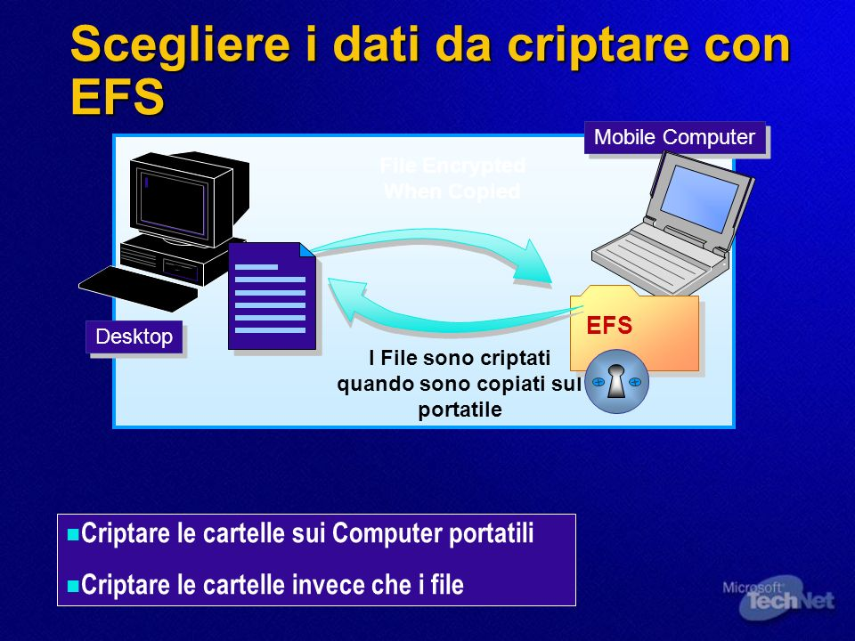 Scegliere i dati da criptare con EFS