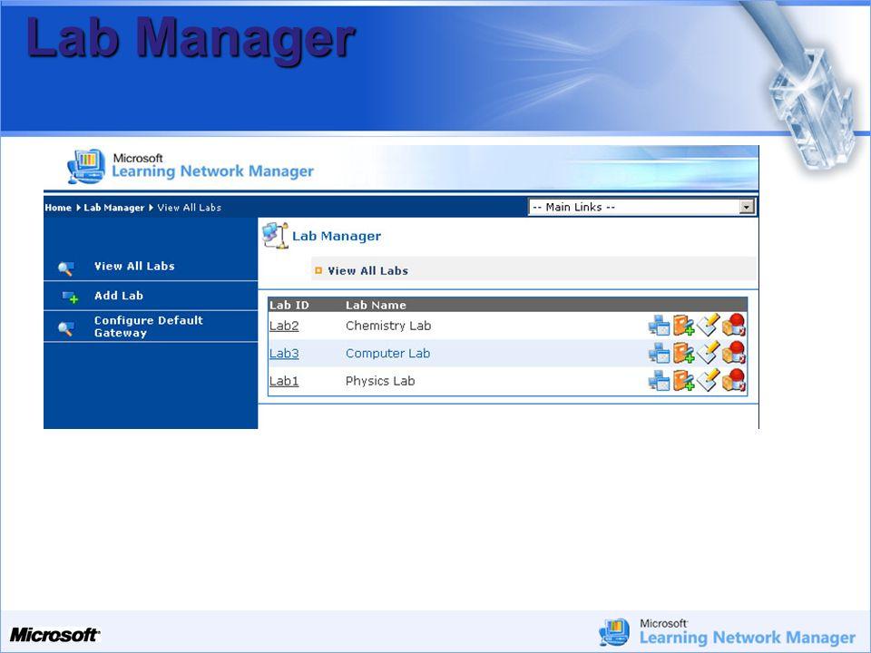 Lab Manager Lab Manager permette di controllare l'accesso ad Internet di: Singoli Computer. Interi laboratori.