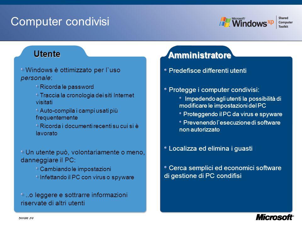 Computer condivisi Utente Amministratore 27/03/2017 30
