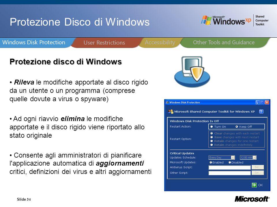 Protezione Disco di Windows