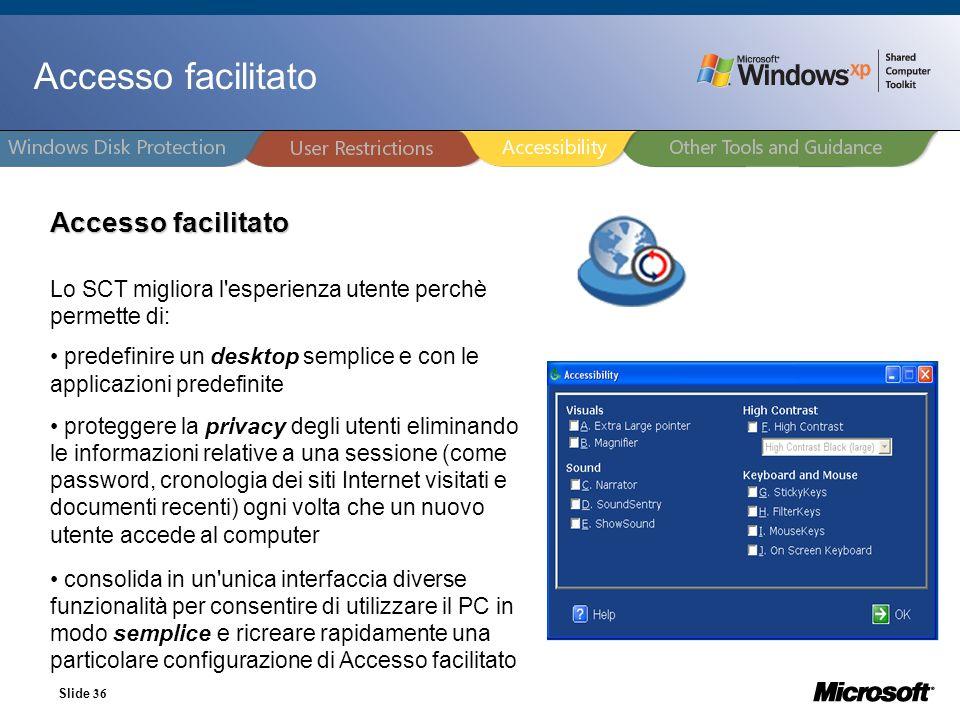 Accesso facilitato Accesso facilitato 27/03/2017 36