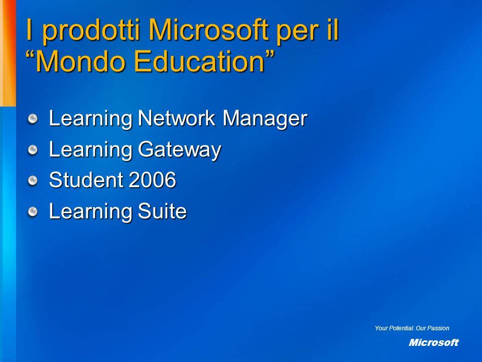 I prodotti Microsoft per il Mondo Education