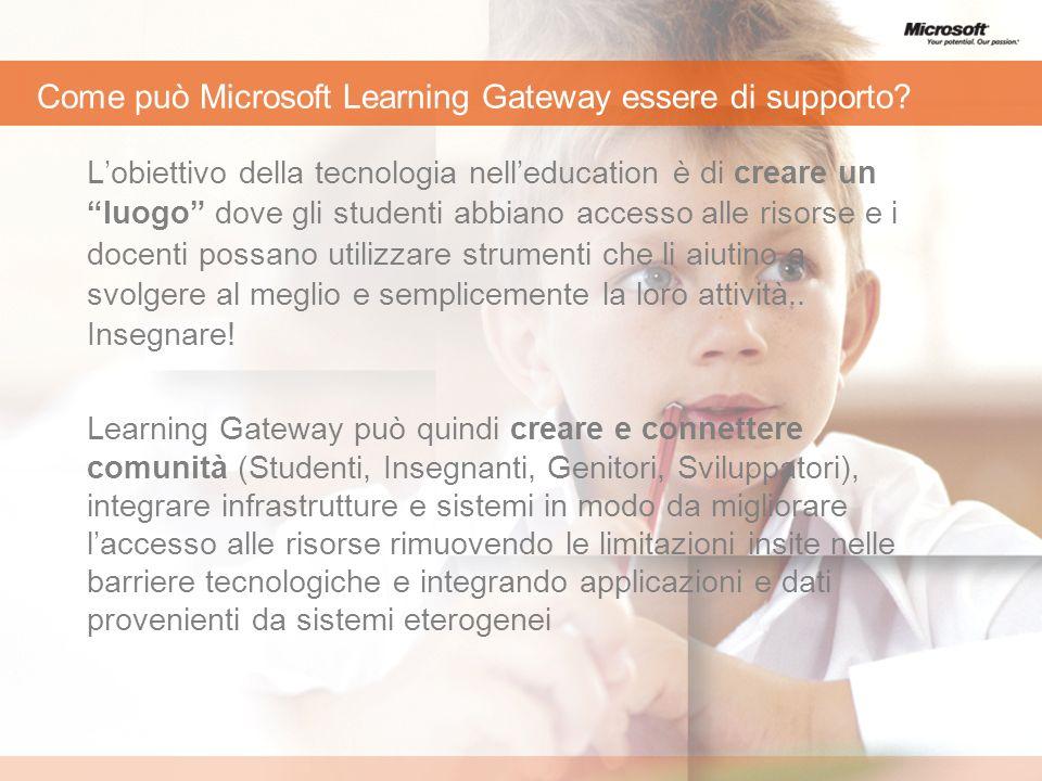 Come può Microsoft Learning Gateway essere di supporto