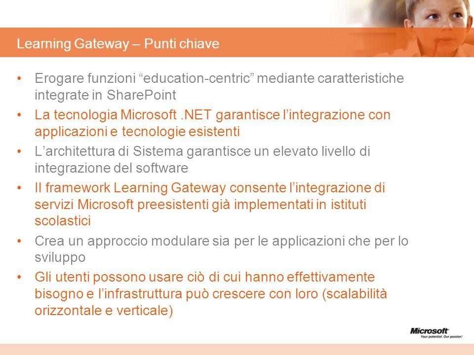 Learning Gateway – Punti chiave