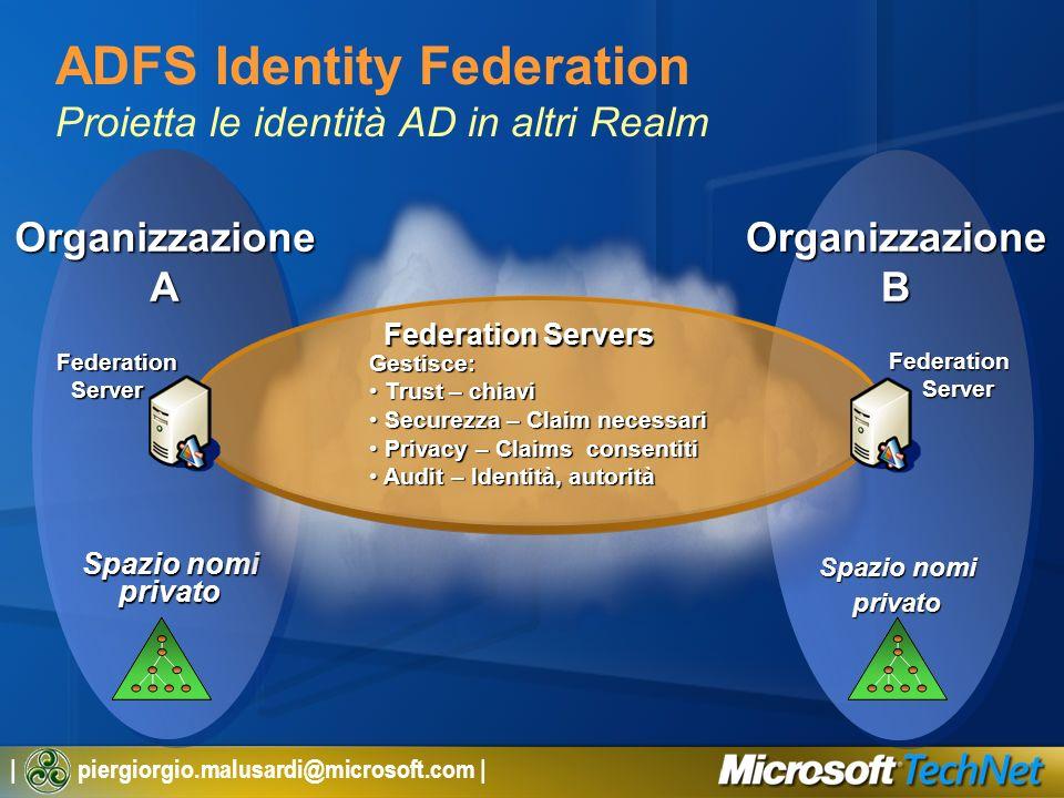 ADFS Identity Federation Proietta le identità AD in altri Realm