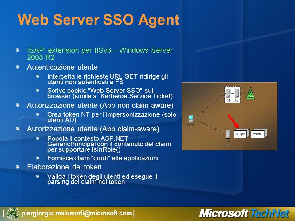 Web Server SSO AgentISAPI extension per IISv6 – Windows Server 2003 R2. Autenticazione utente.
