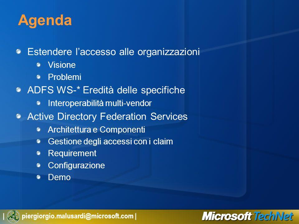 Agenda Estendere l'accesso alle organizzazioni
