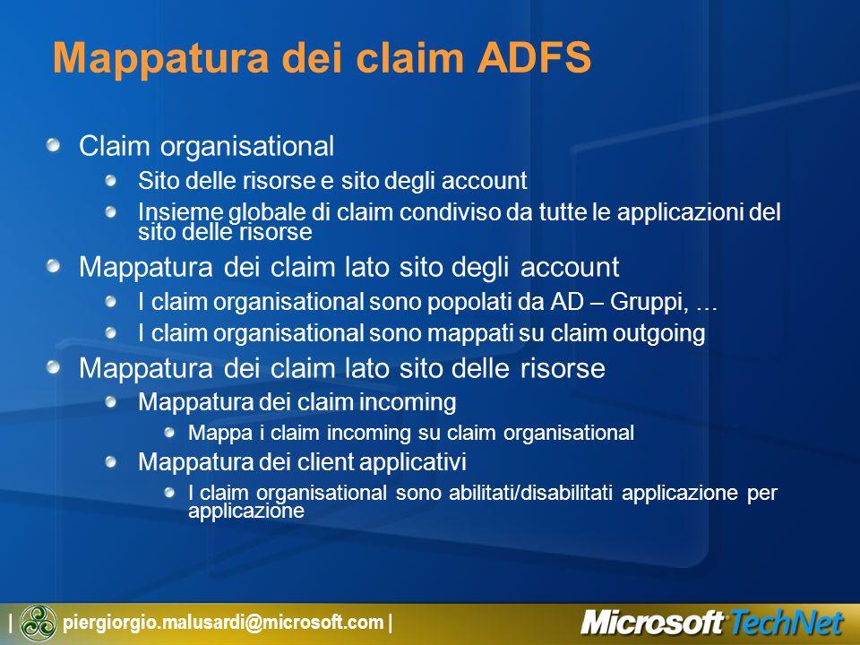 Mappatura dei claim ADFS