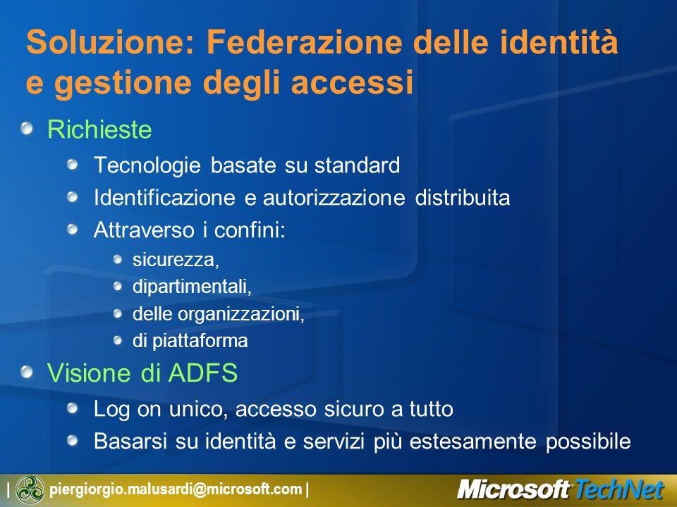 Soluzione: Federazione delle identità e gestione degli accessi