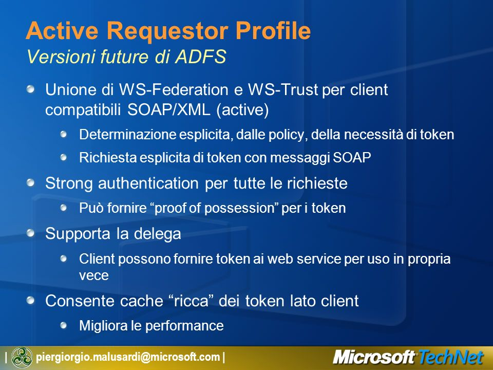 Active Requestor Profile Versioni future di ADFS