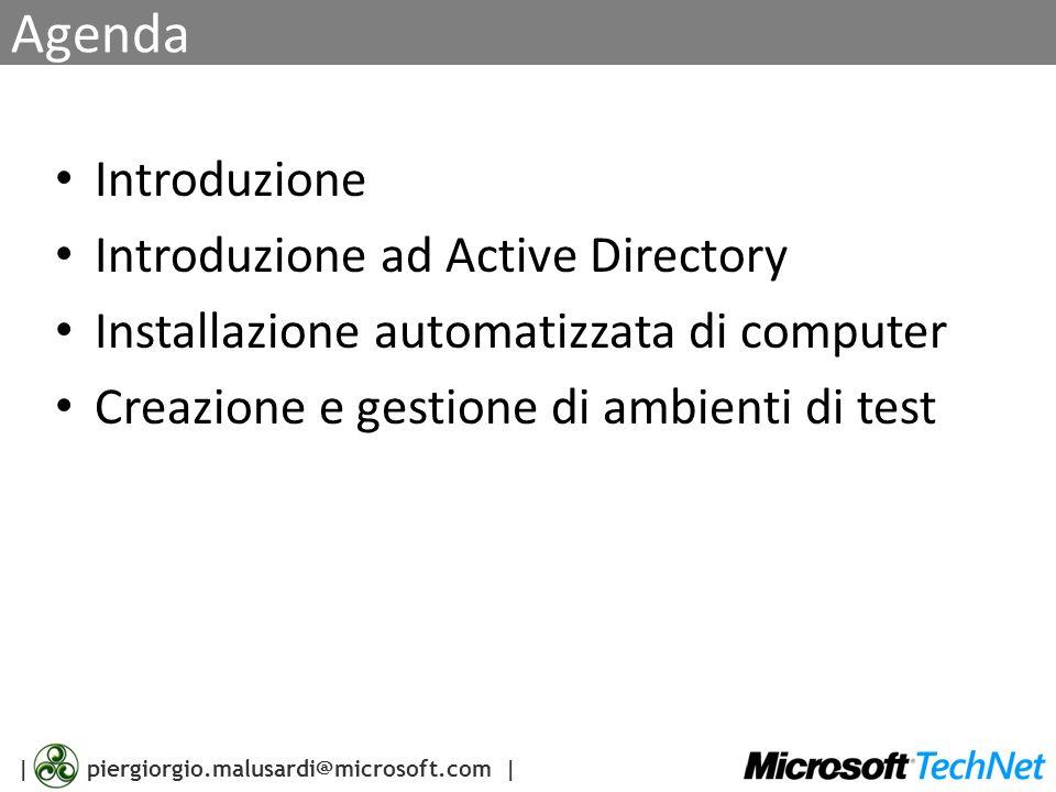 Agenda Introduzione Introduzione ad Active Directory