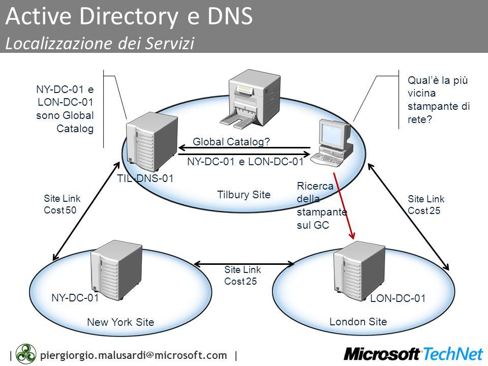 Active Directory e DNS Localizzazione dei Servizi