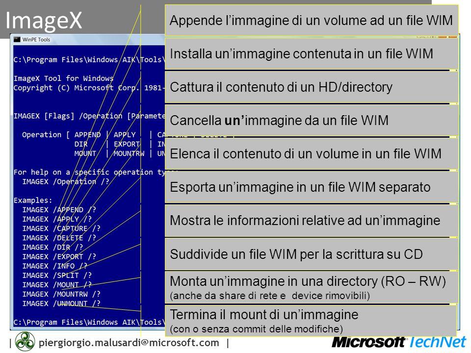 ImageX Appende l'immagine di un volume ad un file WIM