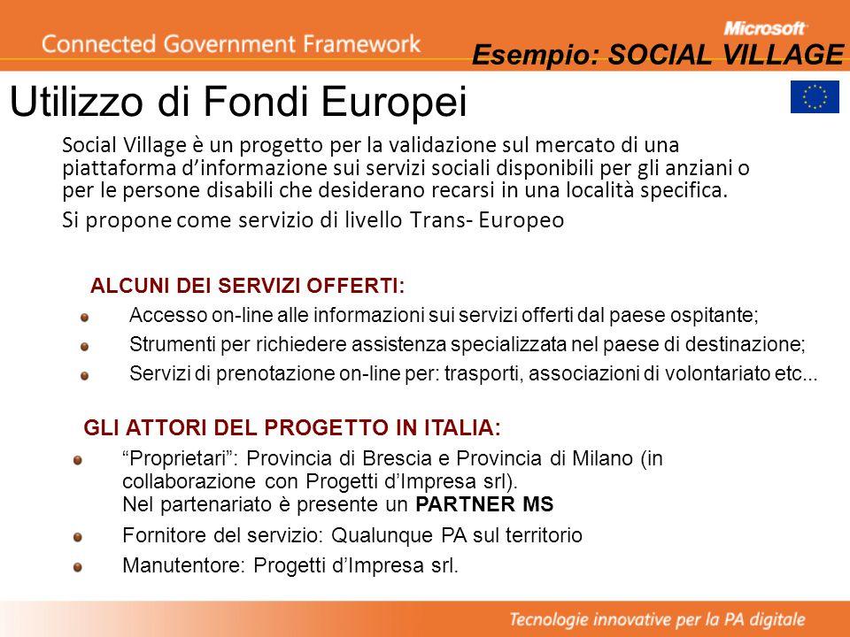 Utilizzo di Fondi Europei