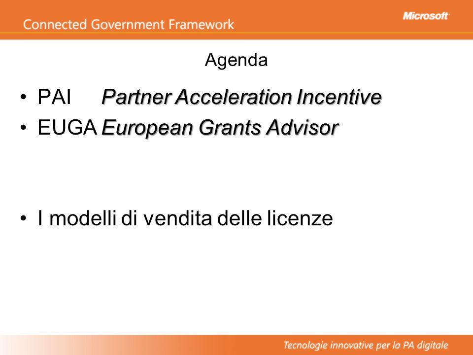 I modelli di vendita delle licenze Partner Acceleration Incentive