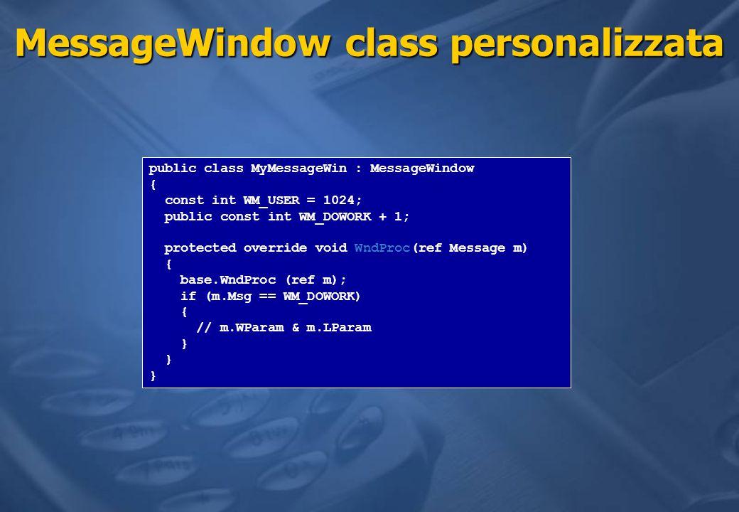 MessageWindow class personalizzata