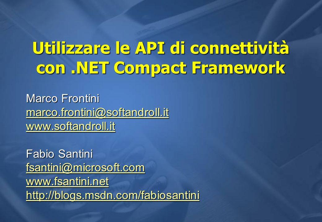 Utilizzare le API di connettività con .NET Compact Framework