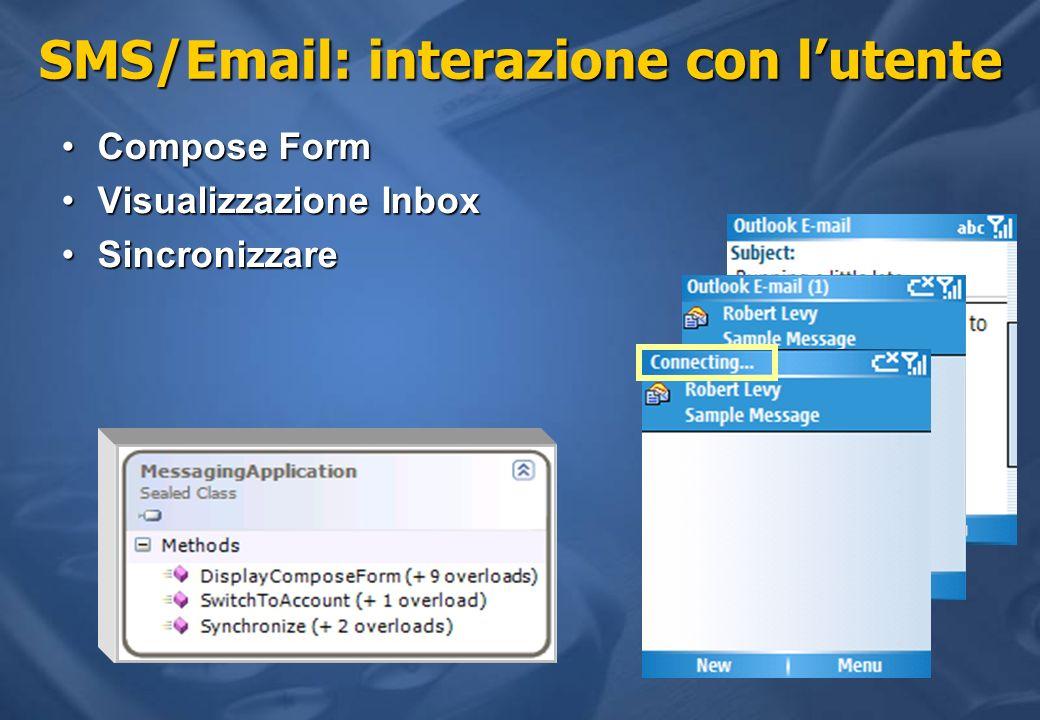 SMS/Email: interazione con l'utente
