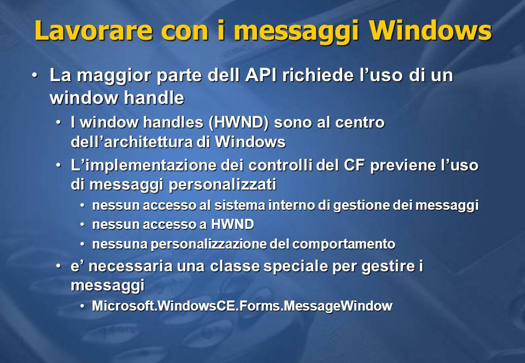 Lavorare con i messaggi Windows