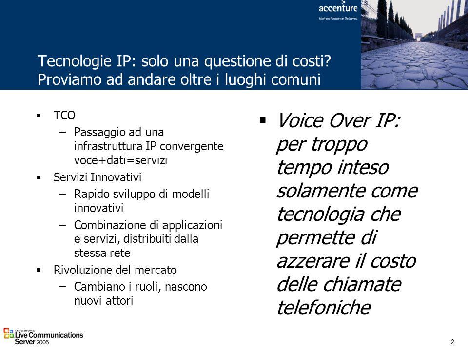 Tecnologie IP: solo una questione di costi