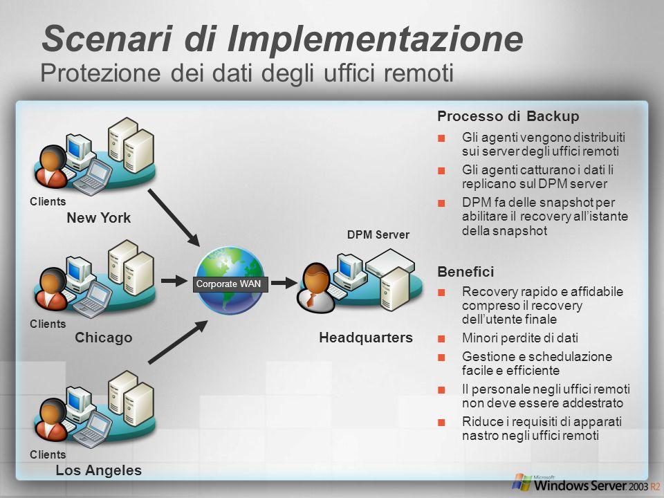 Scenari di Implementazione Protezione dei dati degli uffici remoti