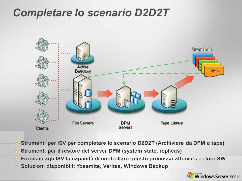Completare lo scenario D2D2T