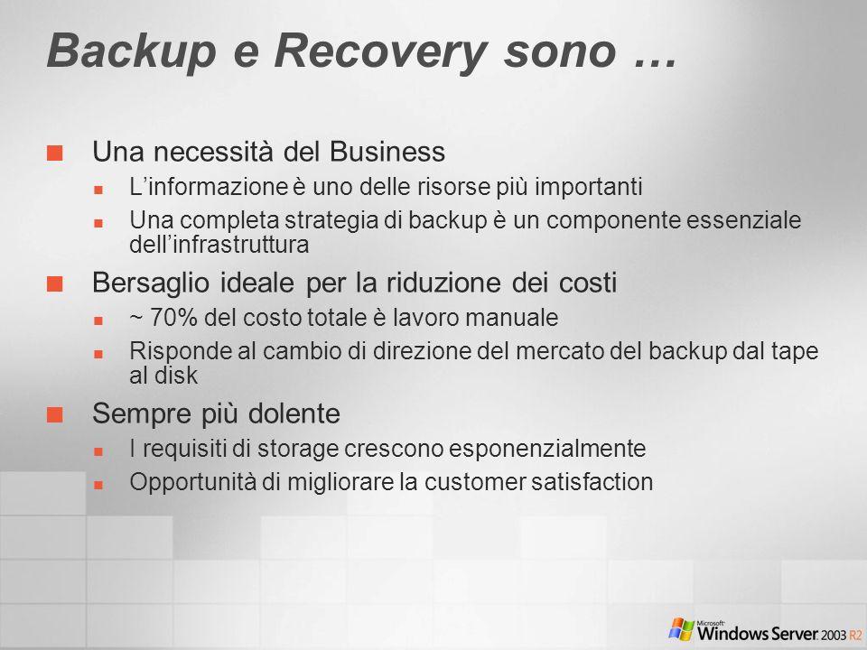 Backup e Recovery sono …