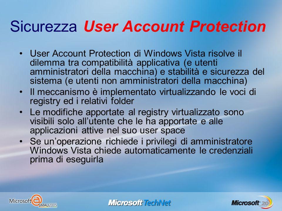 Sicurezza User Account Protection