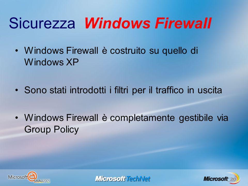 Sicurezza Windows Firewall