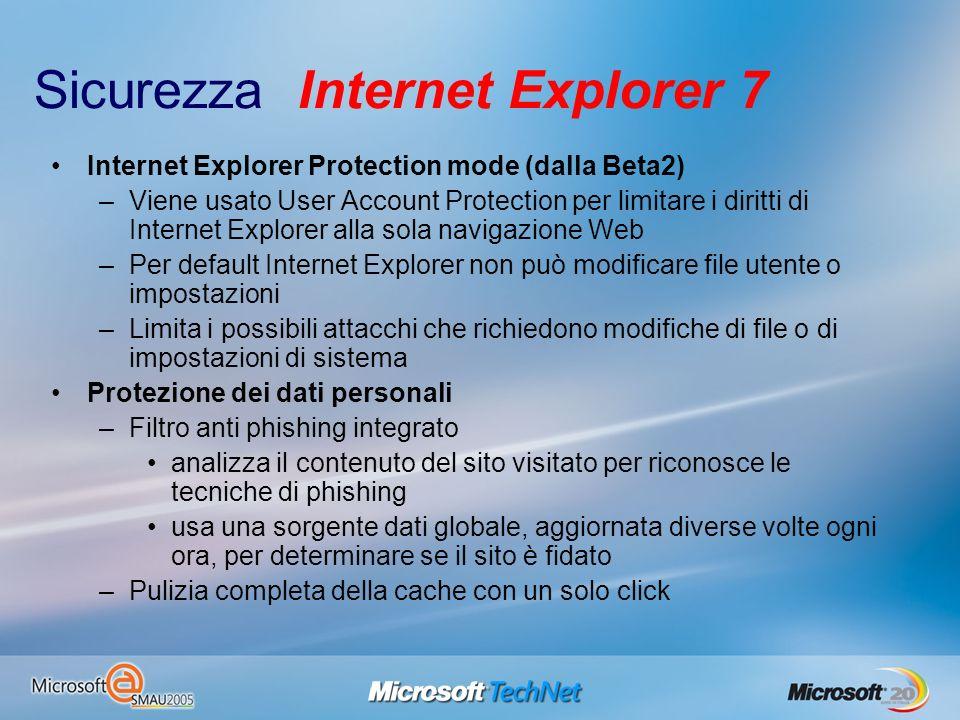 Sicurezza Internet Explorer 7