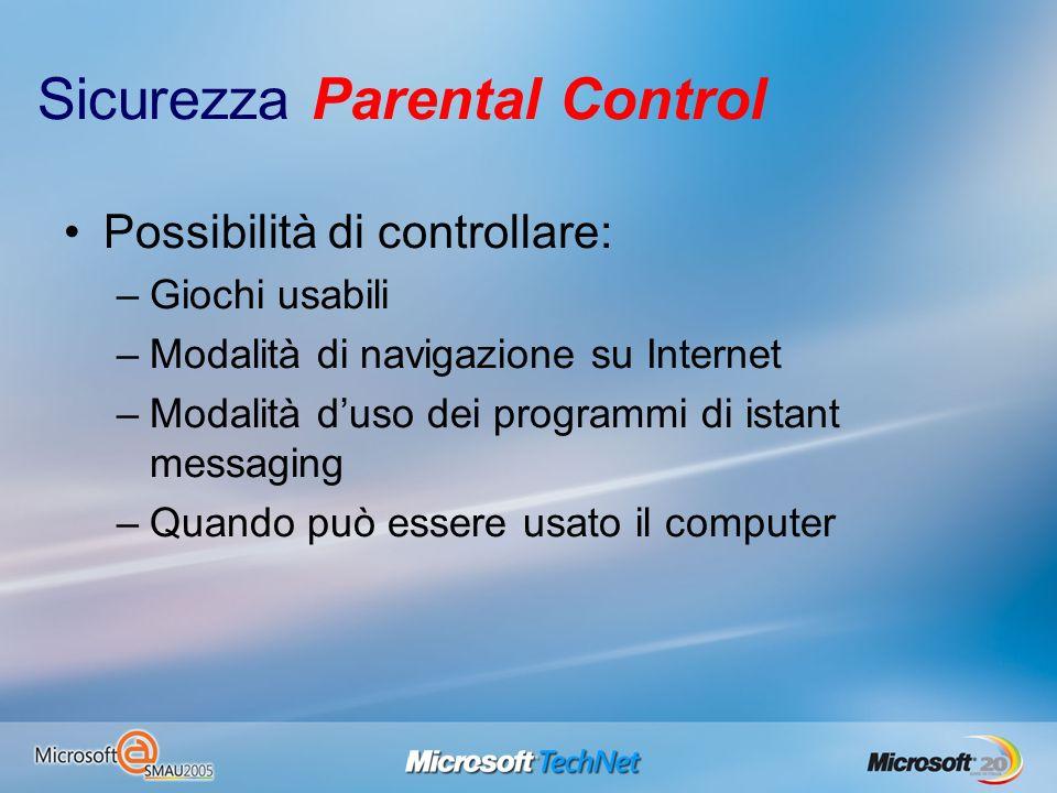 Sicurezza Parental Control