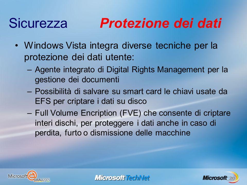 Sicurezza Protezione dei dati