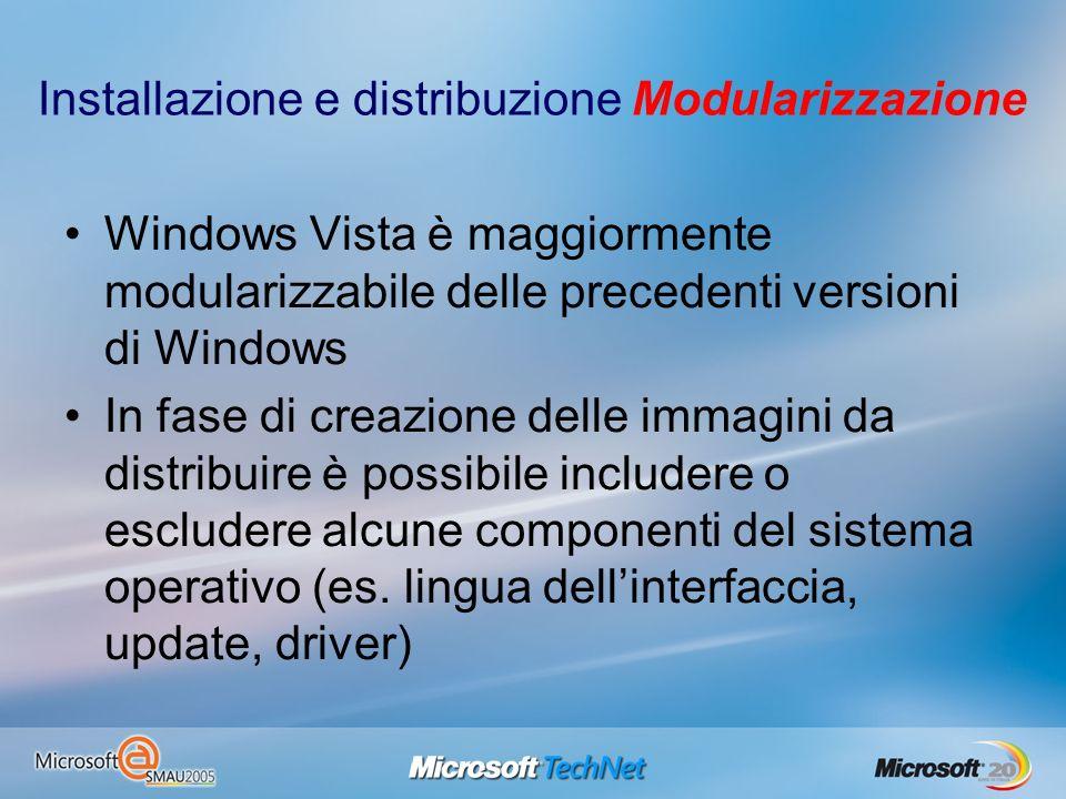 Installazione e distribuzione Modularizzazione