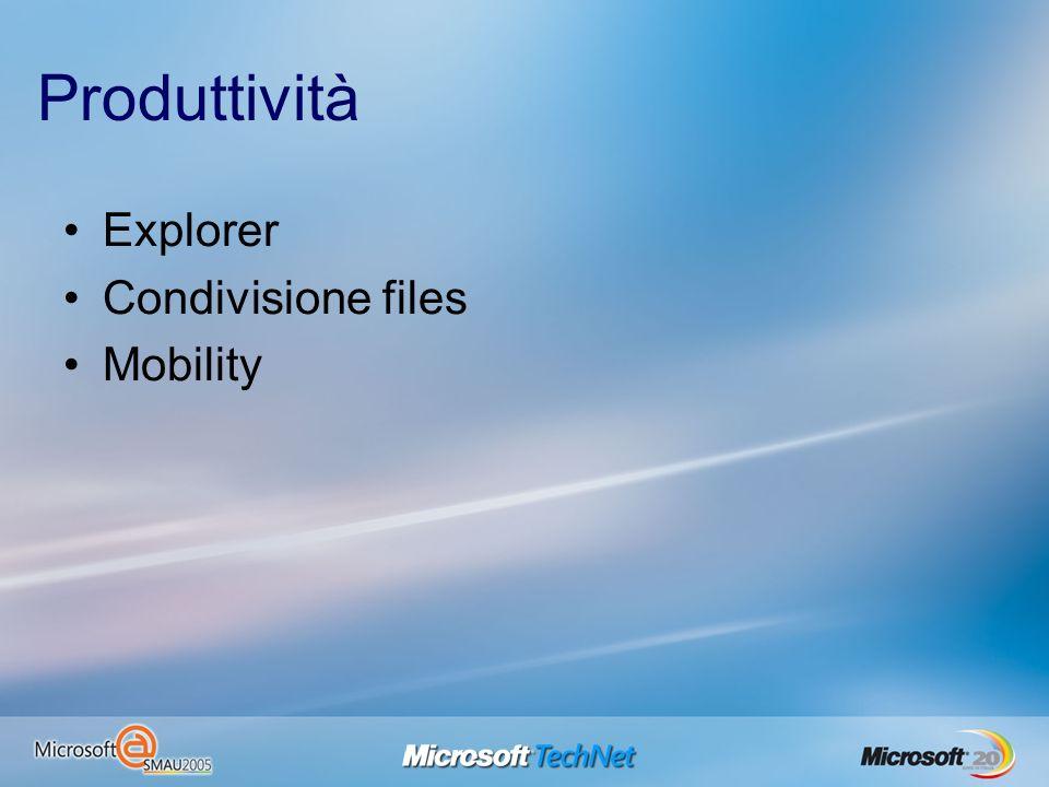 Produttività Explorer Condivisione files Mobility