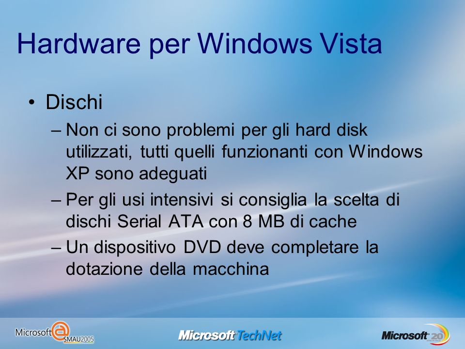 Hardware per Windows Vista