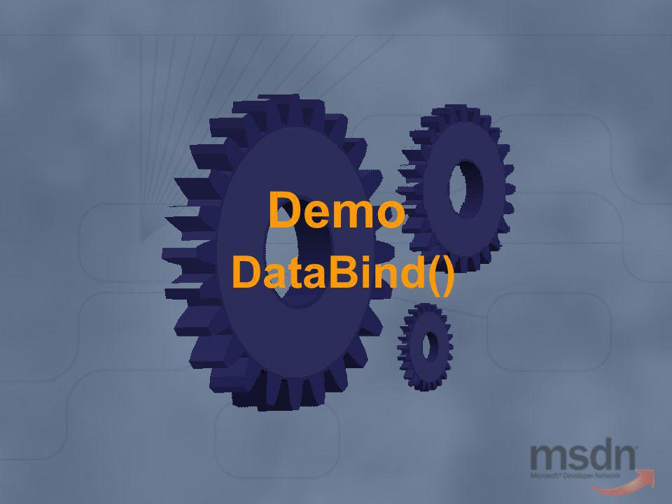 Demo DataBind()