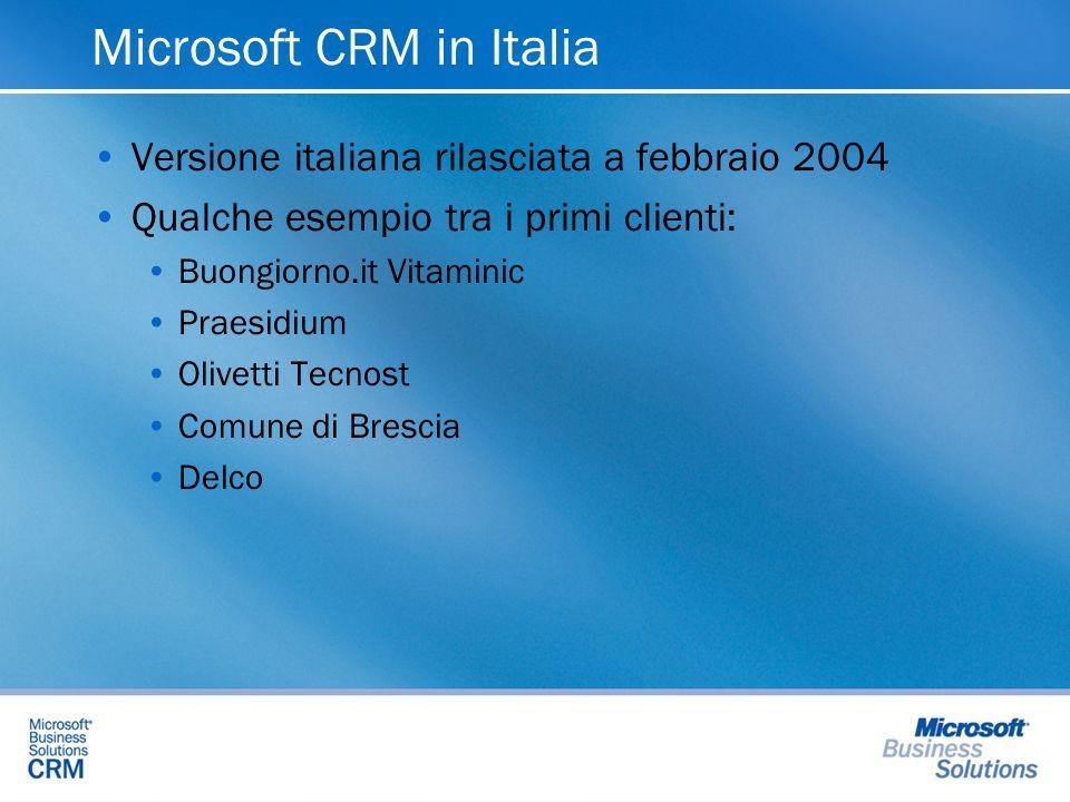 Microsoft CRM in Italia