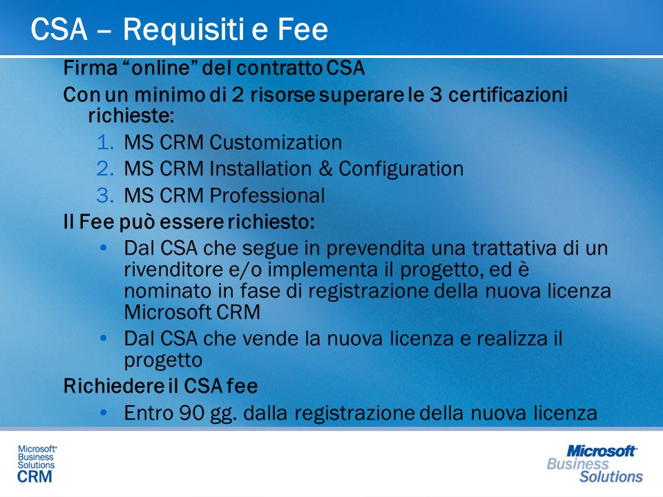 CSA – Requisiti e Fee Firma online del contratto CSA