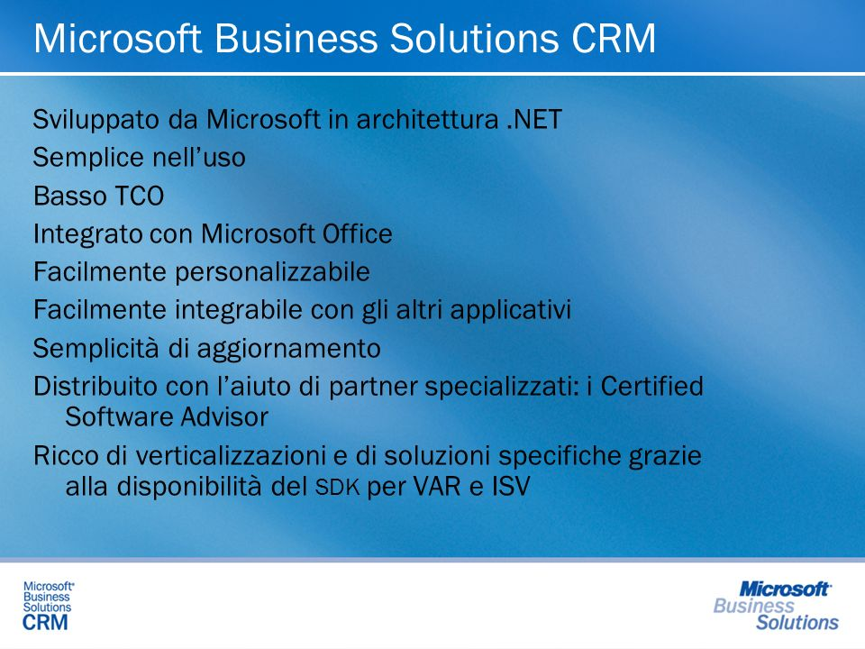 Microsoft Business Solutions CRM