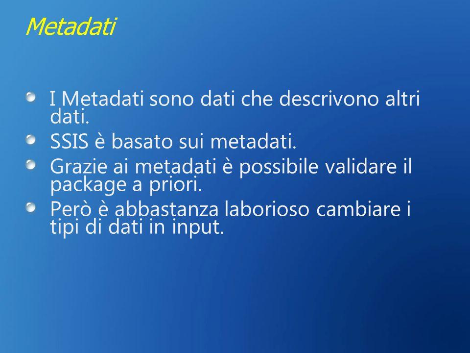 Metadati I Metadati sono dati che descrivono altri dati.