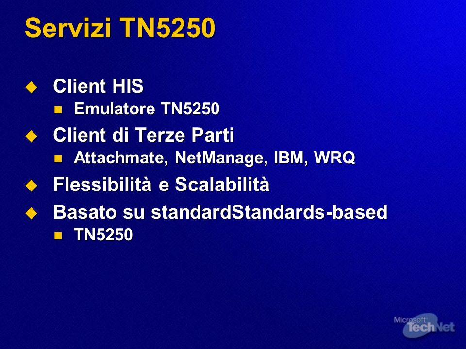 Servizi TN5250 Client HIS Client di Terze Parti