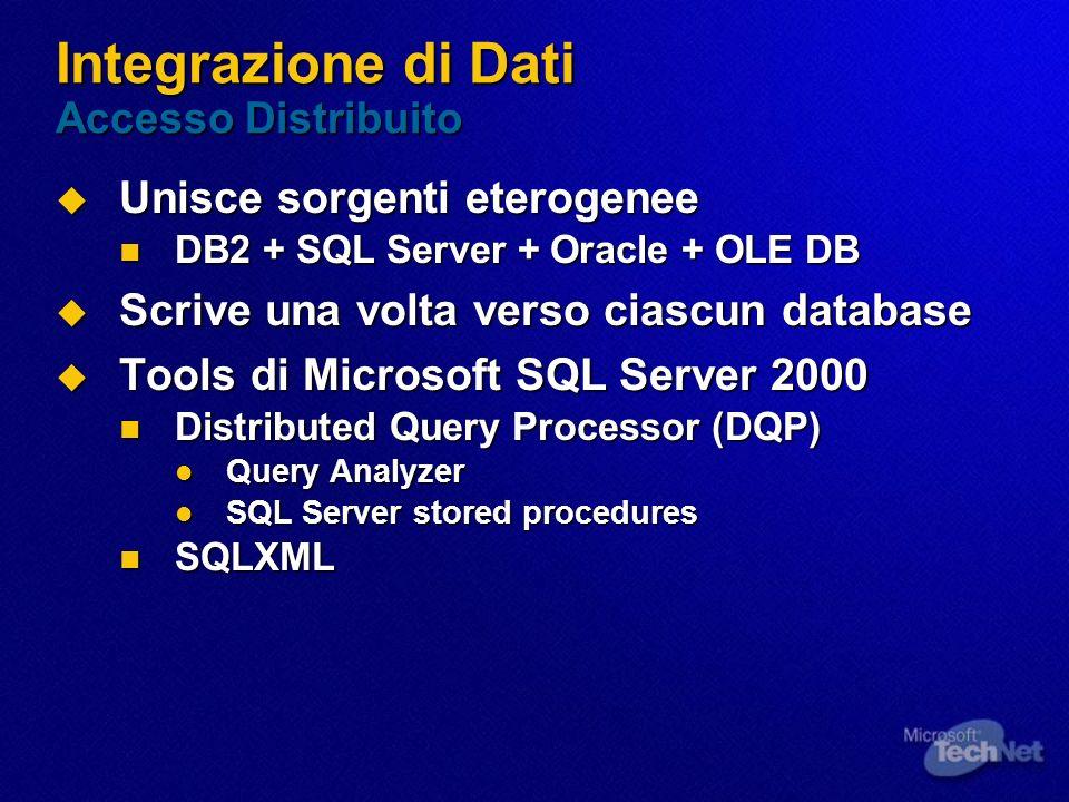 Integrazione di Dati Accesso Distribuito