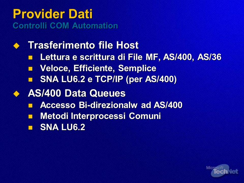 Provider Dati Controlli COM Automation