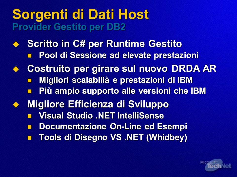 Sorgenti di Dati Host Provider Gestito per DB2