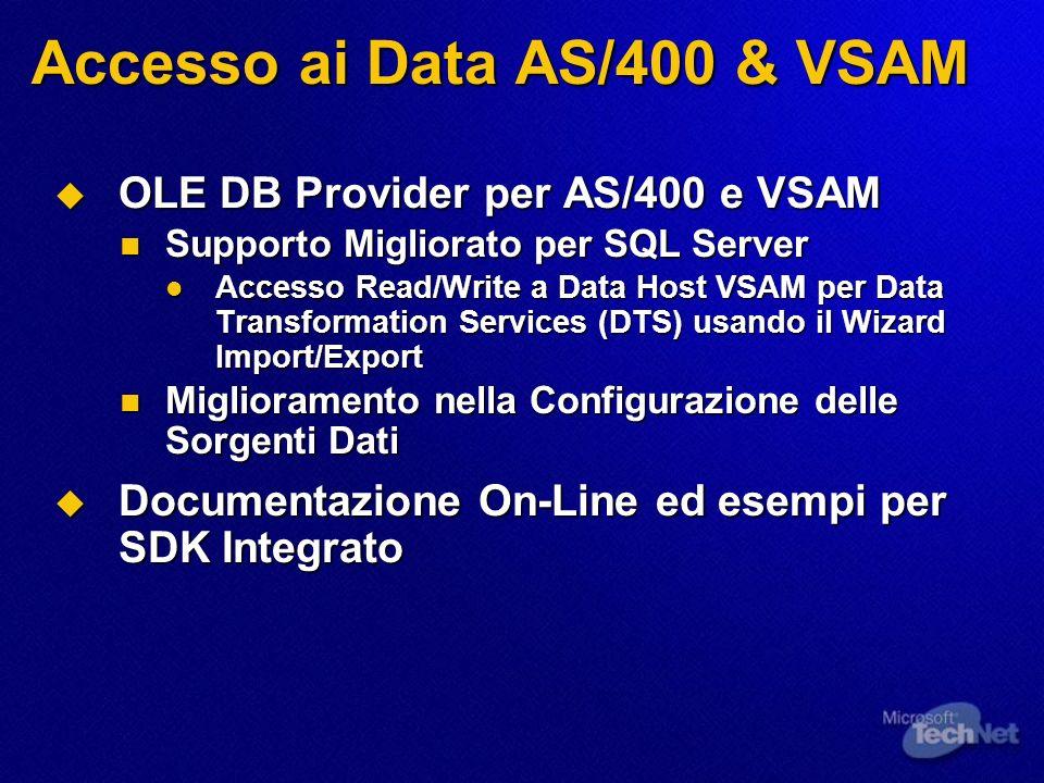 Accesso ai Data AS/400 & VSAM
