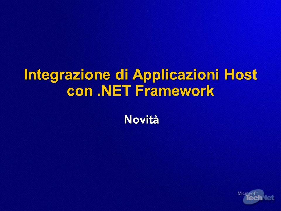 Integrazione di Applicazioni Host con .NET Framework