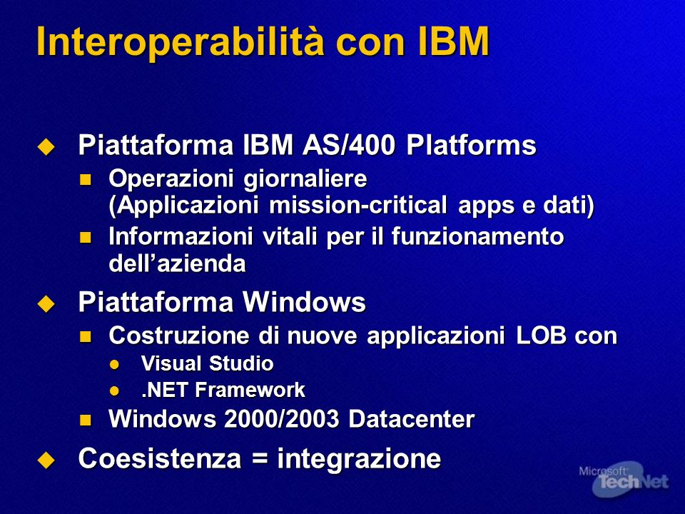 Interoperabilità con IBM