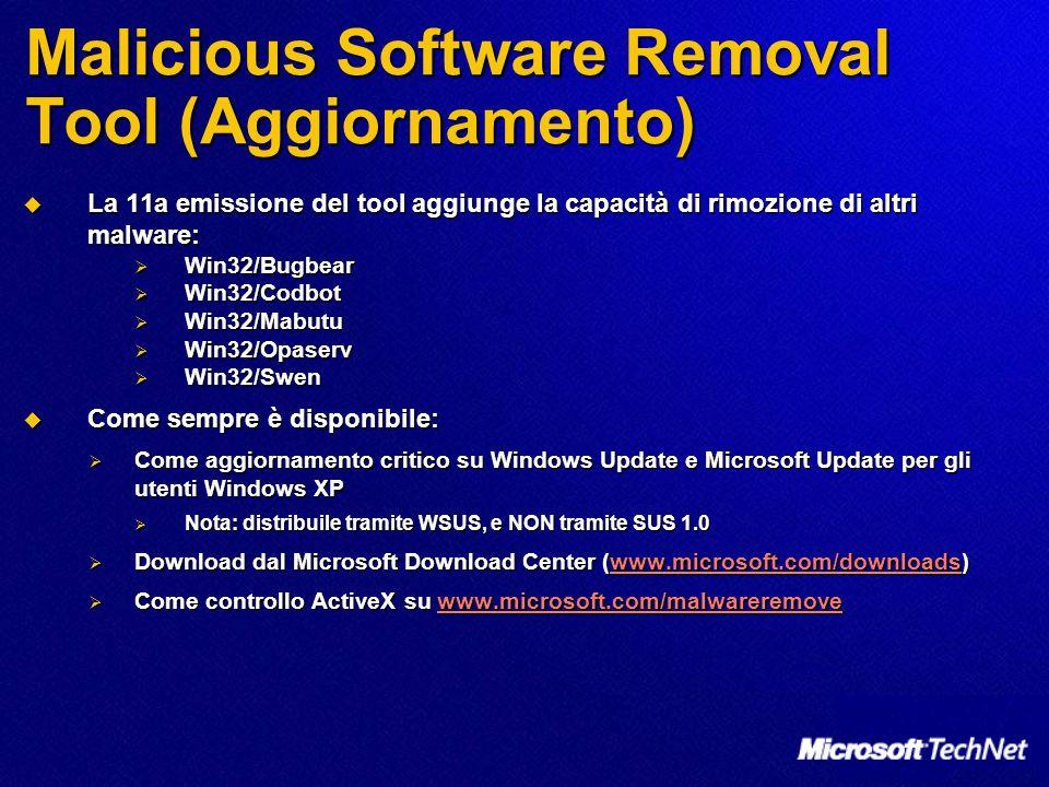 Malicious Software Removal Tool (Aggiornamento)