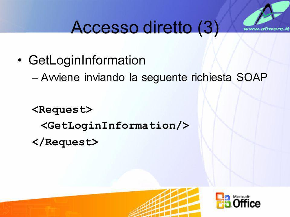 Accesso diretto (3) GetLoginInformation