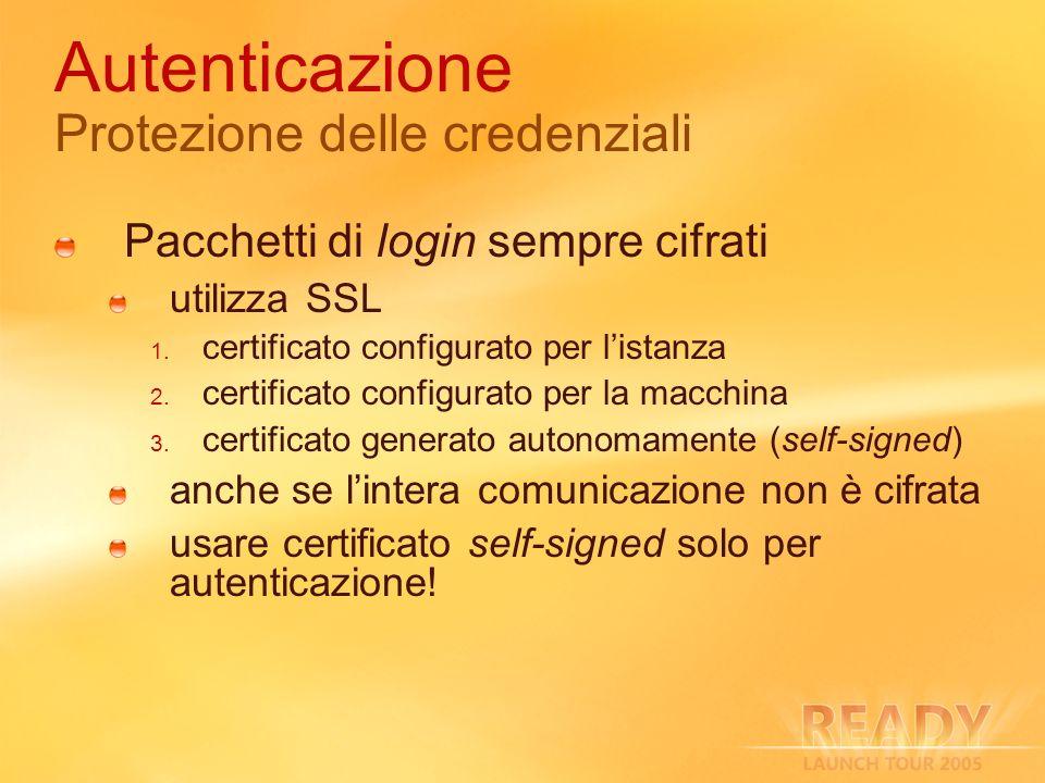 Autenticazione Protezione delle credenziali